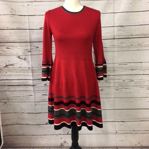 135f7920ab0c Jessica Howard Dresses | Red Black Sweater Dress | Poshmark